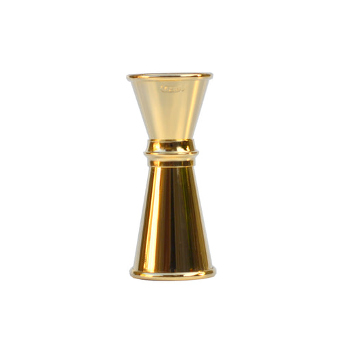 Japanese 24K Gold 0.75/0.5 oz Jigger with Lines