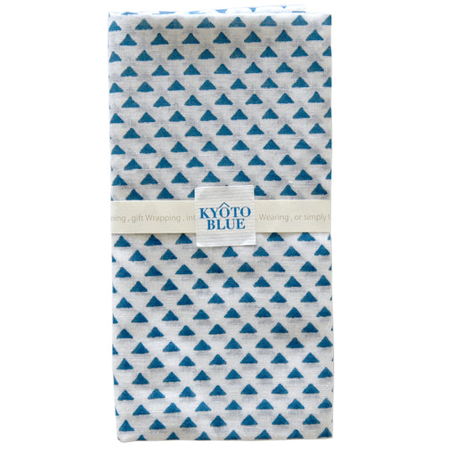Kyoto Blue Triangles Furoshiki