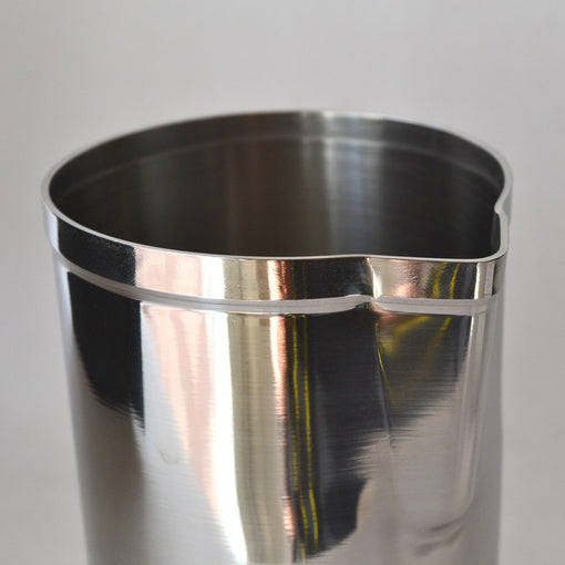 stainless steel mixing cup Chill down your drinks even faster with these sleek, compact mixing cups. The steel helps cool down the temperature of the drink in seconds!