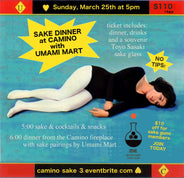 3rd Annual Sake Dinner at Camino