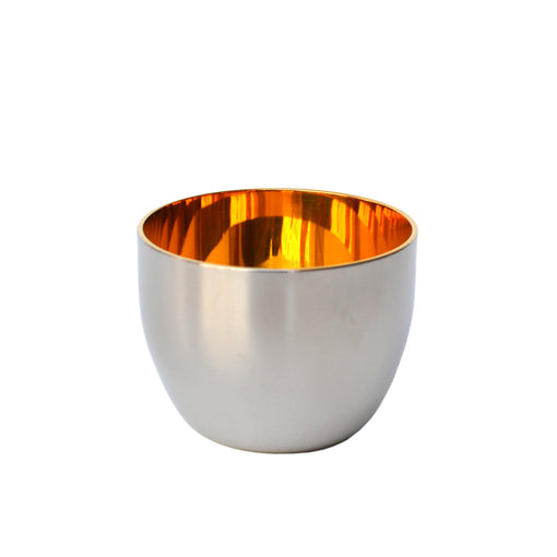 Japanese Yukiwa Stainless Steel Sake Cup with 24k Gold Lining