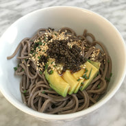Tonburi Field Caviar on Soba with Avocado