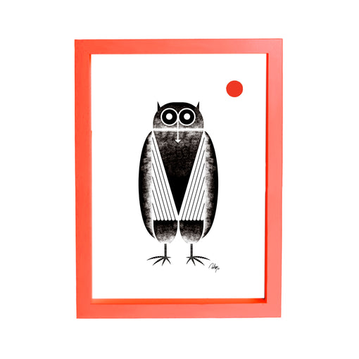 Owl with Moon Print