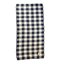 Vintage Navy Check Towel