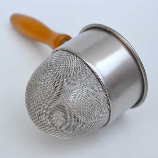 Deep Basket Strainer Wood Handle