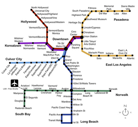 Los Angeles Metro Rail Map