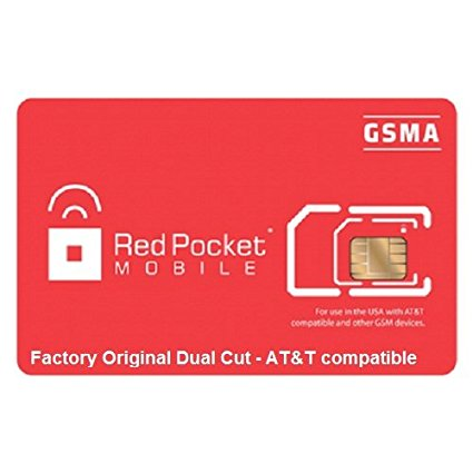 Red Pocket Mobile Prepaid Simcard Starter Kit