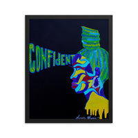 Confident Framed poster