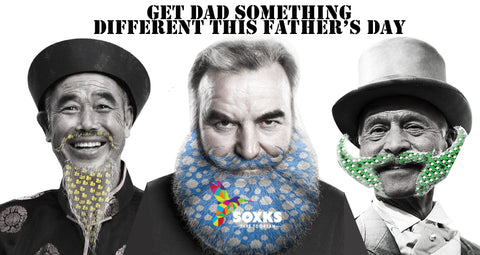 Dads with SOXKS sock designed beards!