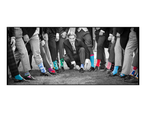 Arthur Burnand Georgina Wilson Wedding Photo Socks