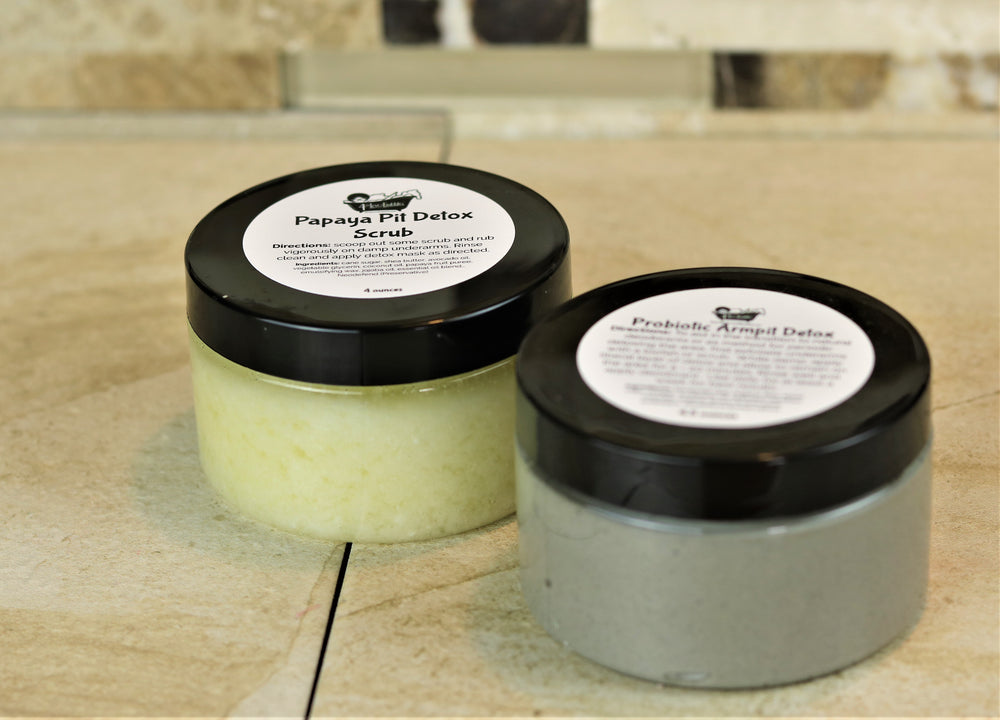 Natural Probiotic Pit Detox Mask and Pit Scrub