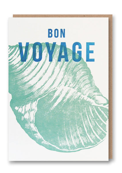 Wild Press Bon Voyage Greetings Card Sold in 6's