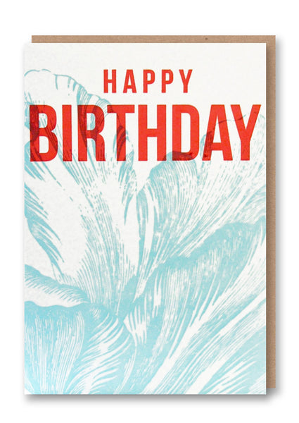 Wild Press Happy Birthday Greetings Card Sold in 6's
