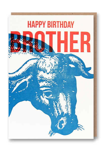 Wild Press Happy Birthday Brother Greetings Card Sold in 6's