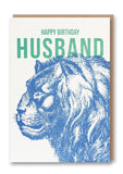 Wild Press Happy Birthday Husband Greetings Card Sold in 6's