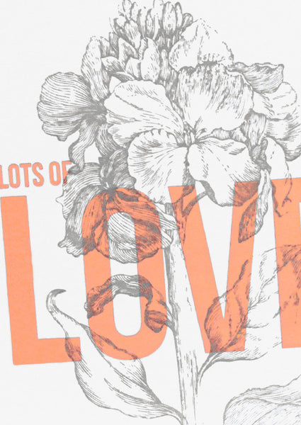 Wild Press Lots of Love Greetings Card Sold in 6's