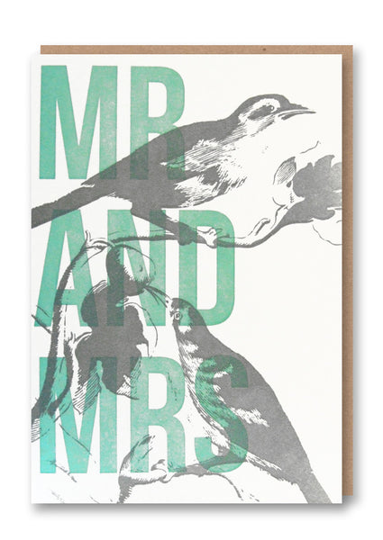 Wild Press Mr and Mrs Greetings Card Sold in 6's