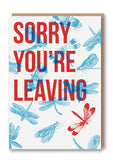 Wild Press Sorry You're Leaving Greetings Card Sold in 6's