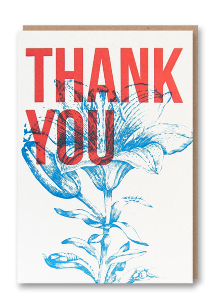 Wild Press Thank You Greetings Card Sold in 6's