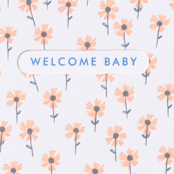 Tiny Floral Baby Mini Card