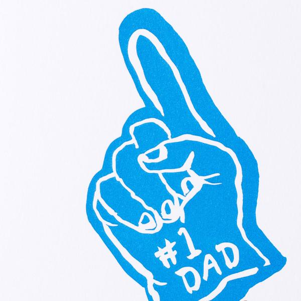 #1 Dad Hand Card