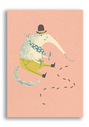 Paper and Cloth Anteater Postcard Sold in 12's
