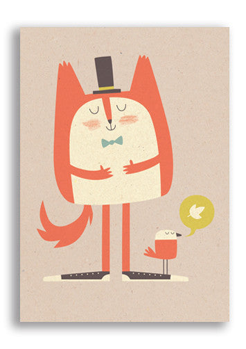 Fat Cat Postcard