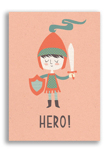 Paper and Cloth Hero Postcard Sold in 12's