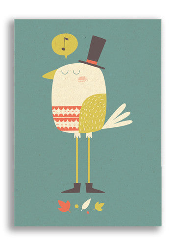Paper and Cloth Posh Bird Postcard Sold in 12's