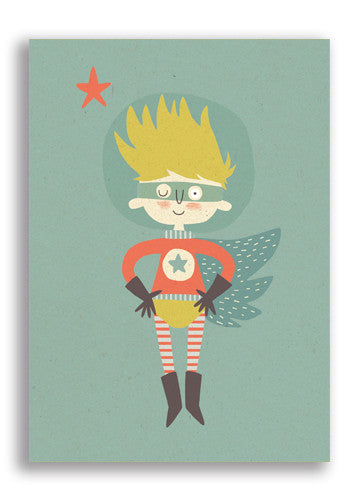 Paper and Cloth Space Hero Postcard Sold in 12's
