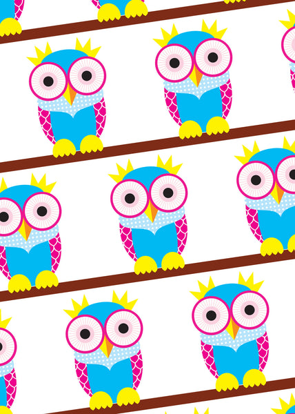 The Good Life Owl Wrapping Paper Sold in 25's