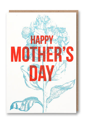 Mother's Day Blue Flower Day Card