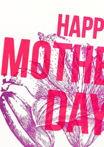 Happy Mother's Day Purple Flower Day Card Sold in 6's
