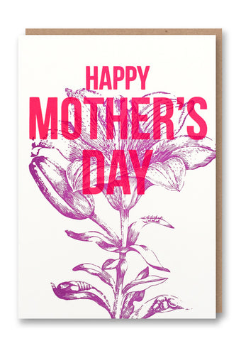 Mother's Day Purple Flower Card