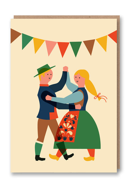 Anna Kövecses Folk Dance Greetings Card Sold in 6's