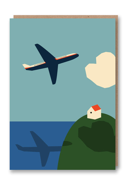 Anna Kövecses Plane Greetings Card Sold in 6's
