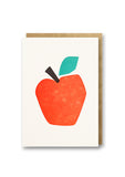 Bits and Bobs Apple Letterpressed Mini Greeting Card Sold in 6's