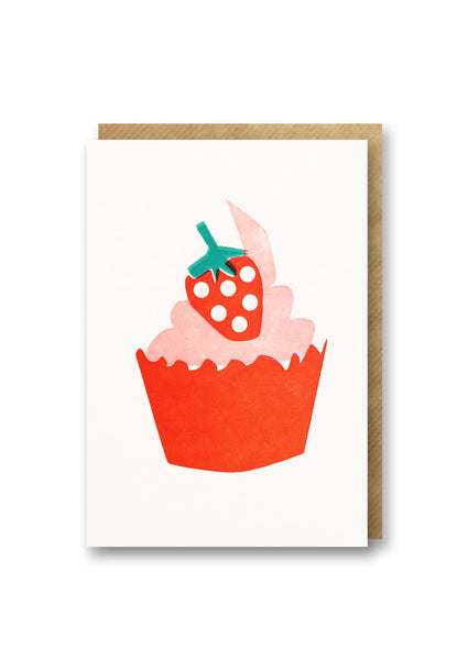 Bits and Bobs Cup Cake Letterpressed Mini Greeting Card Sold in 6's