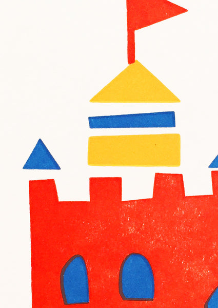 Bits and Bobs Castle Letterpressed Mini Greeting Card Sold in 6's