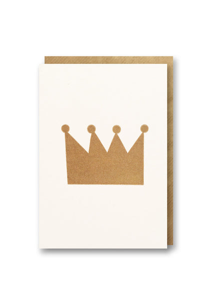 Bits and Bobs Crown Letterpressed Mini Greeting Card Sold in 6's