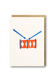 Bits and Bobs Drum Letterpress Mini Card