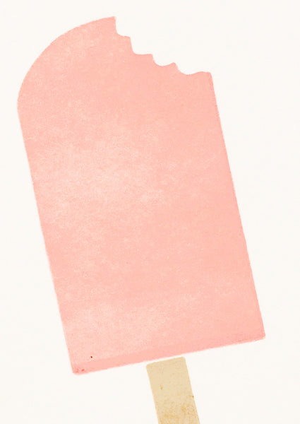 Bits and Bobs Ice Lolly Letterpress Mini Card