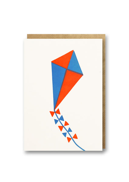 Bits and Bobs Kite Letterpress Mini Card