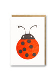 Bits and Bobs Ladybird Letterpressed Mini Greeting Card Sold in 6's