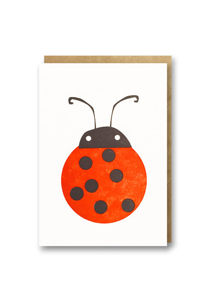 Bits and Bobs Ladybird Letterpress Mini Card