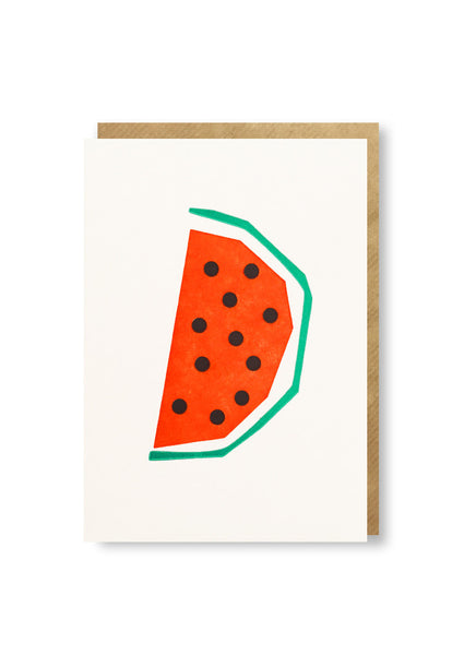 Bits and Bobs Melon Letterpressed Mini Greeting Card Sold in 6's