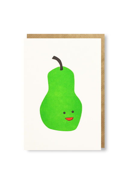 Bits and Bobs Pear Letterpress Mini Card