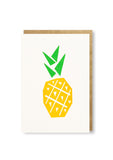 Bits and Bobs Pineapple Letterpressed Mini Greeting Card Sold in 6's