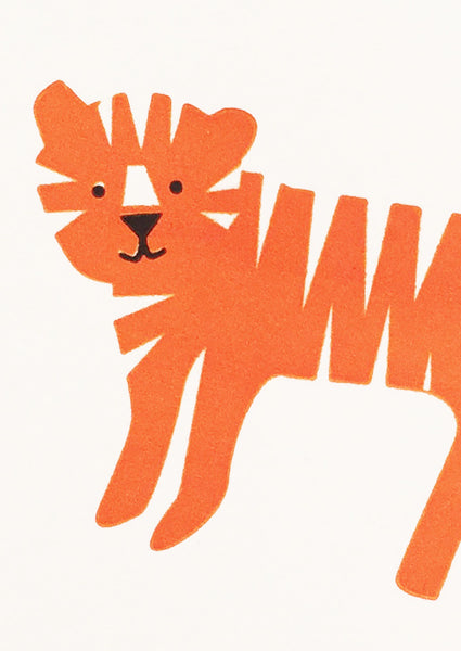 Bits and Bobs Tiger Letterpress Mini Card