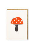 Bits and Bobs Toadstool Letterpressed Mini Greeting Card Sold in 6's